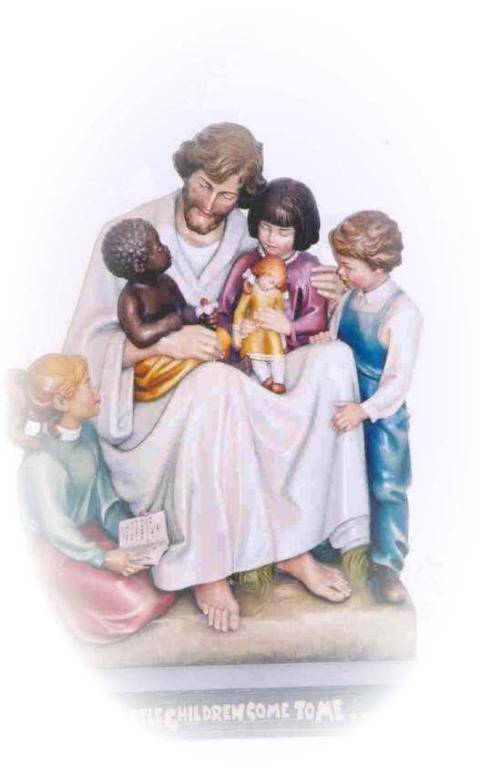 Statue of Jesus surrounded by children