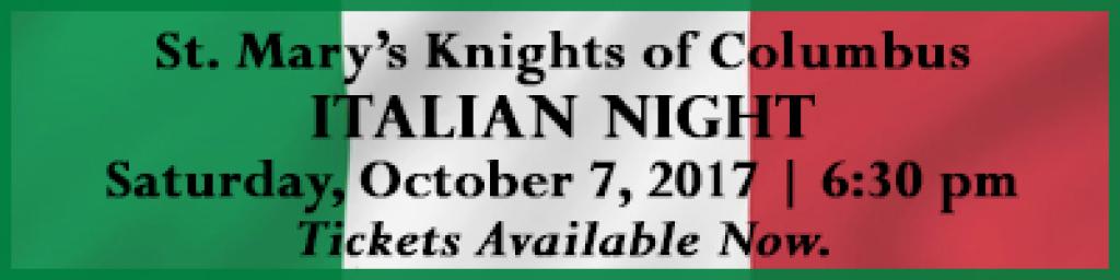 Italian Night Banner