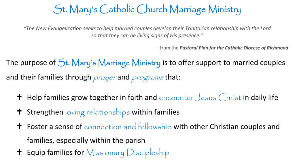 marriage ministry st mary catholic church
