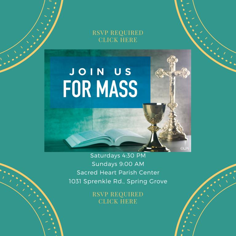 RSVP for Weekend Masses