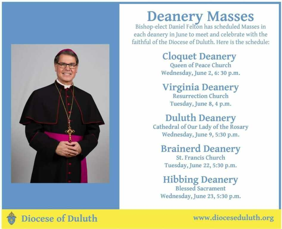 Bishop Deanery Masses