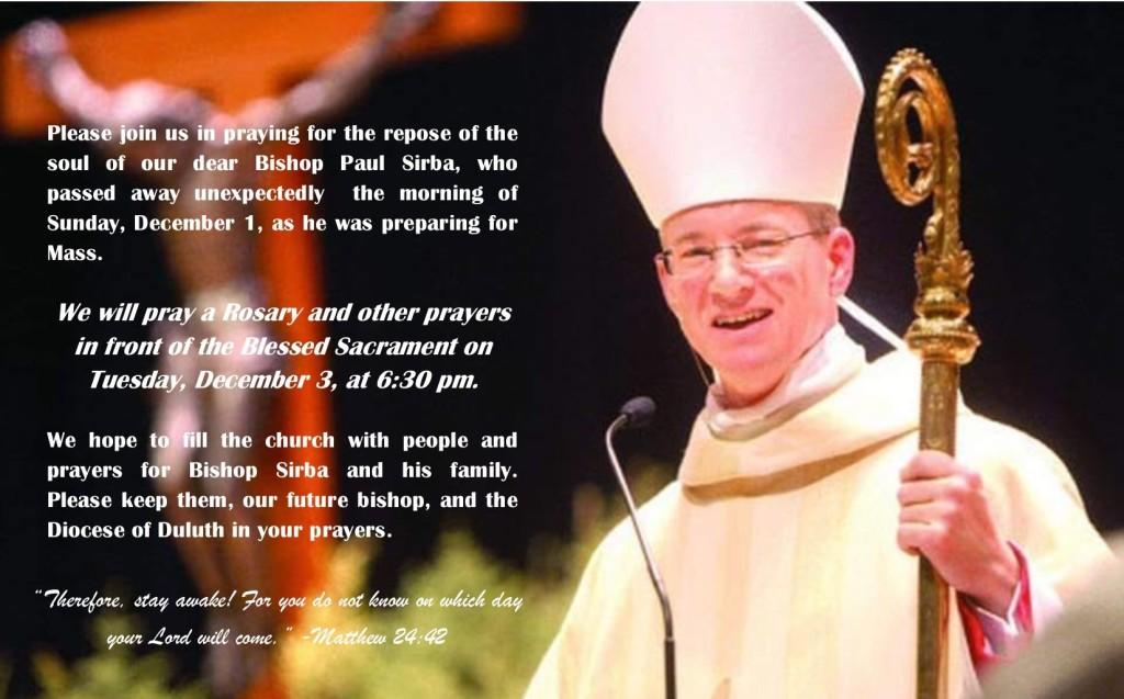 Pray for Bishop