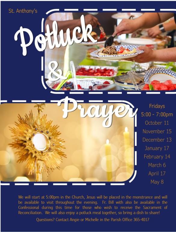 Prayer & Potluck 19-20