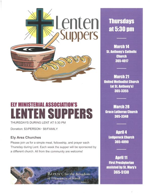 Lenten Suppers