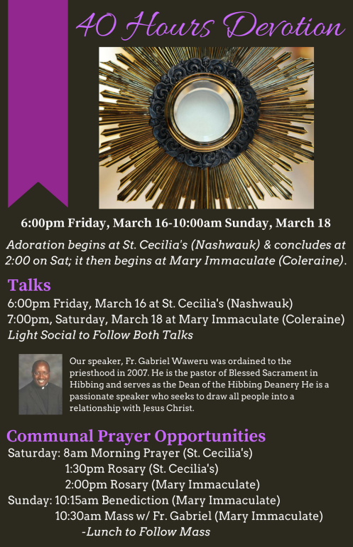 40 Hours Parish Mission