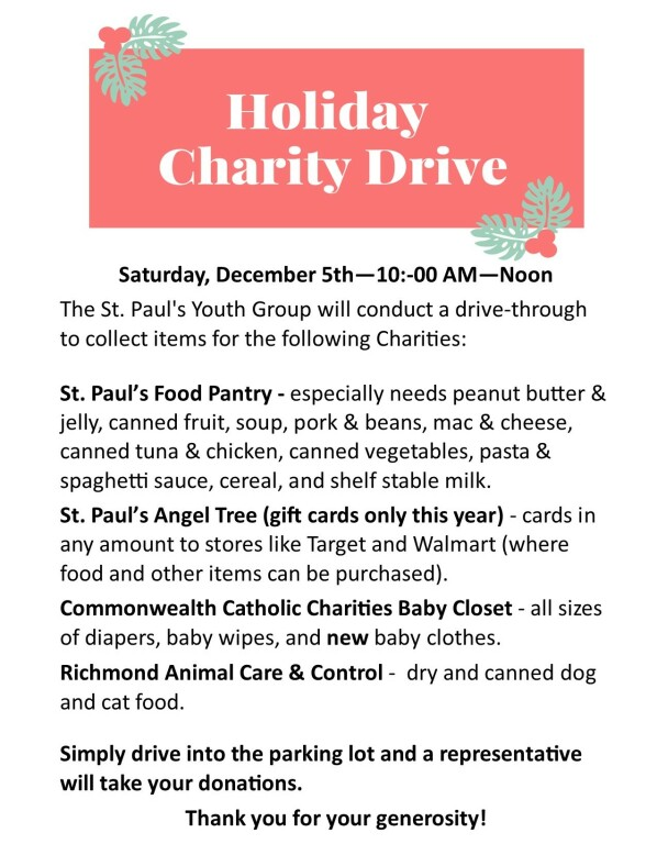 Holiday Charity Drive