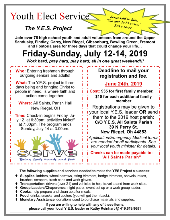 2019 YES Flyer