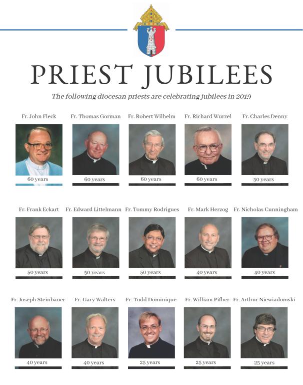 2019 Diocese of Toledo Priest Jubilees