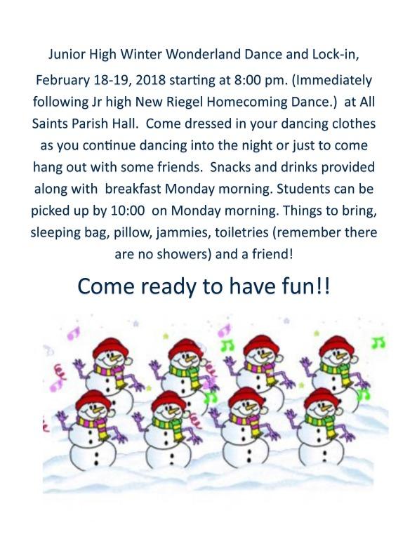 2018 Winter Wonderland Dance & Lock-in