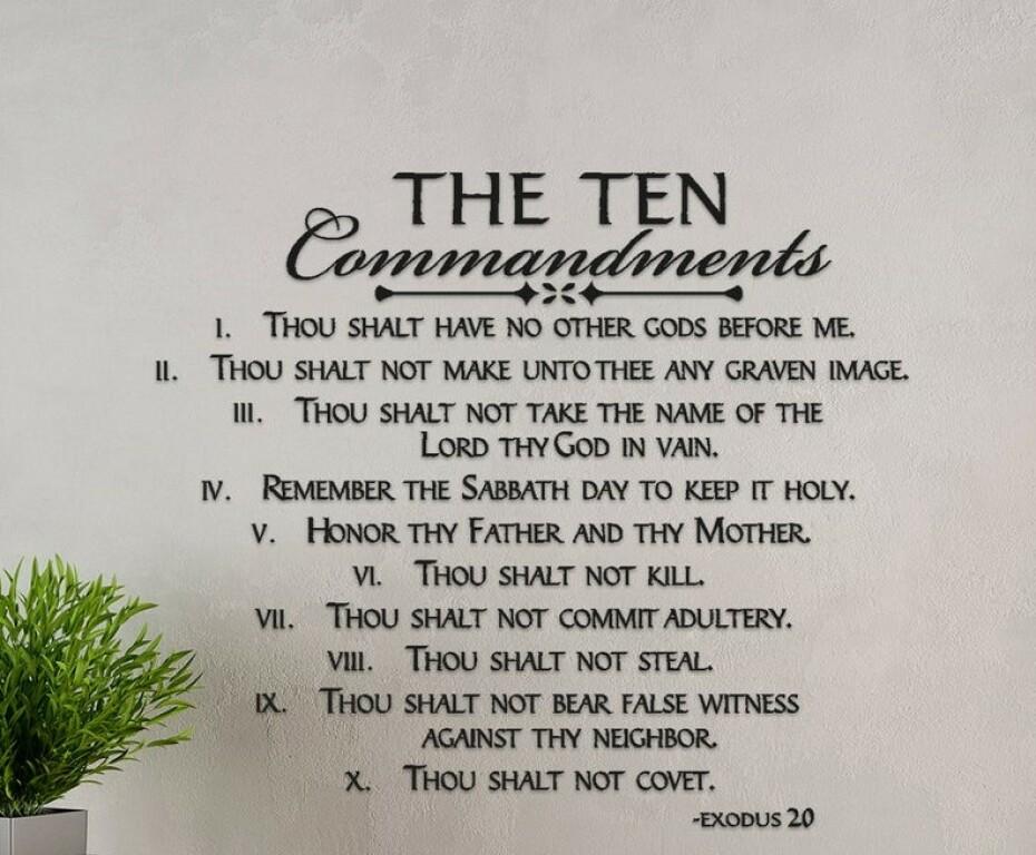 About the Ten Commandments   ST. JOSEPH CATHOLIC CHURCH & SCHOOL