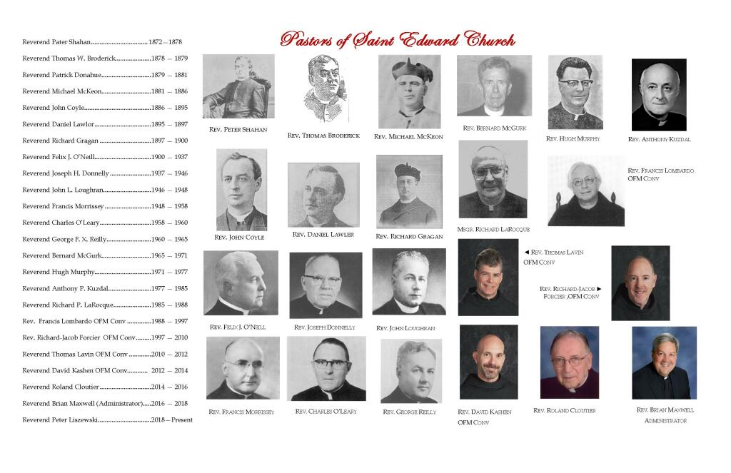 Pastors St. Edward Parish 1872-2021