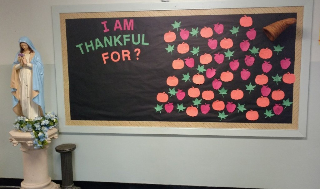 Thankful For bulletin board