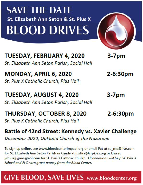 Blood Drives 2020