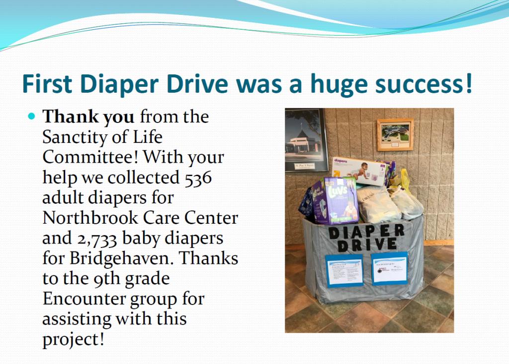 Diaper Drive Thank You