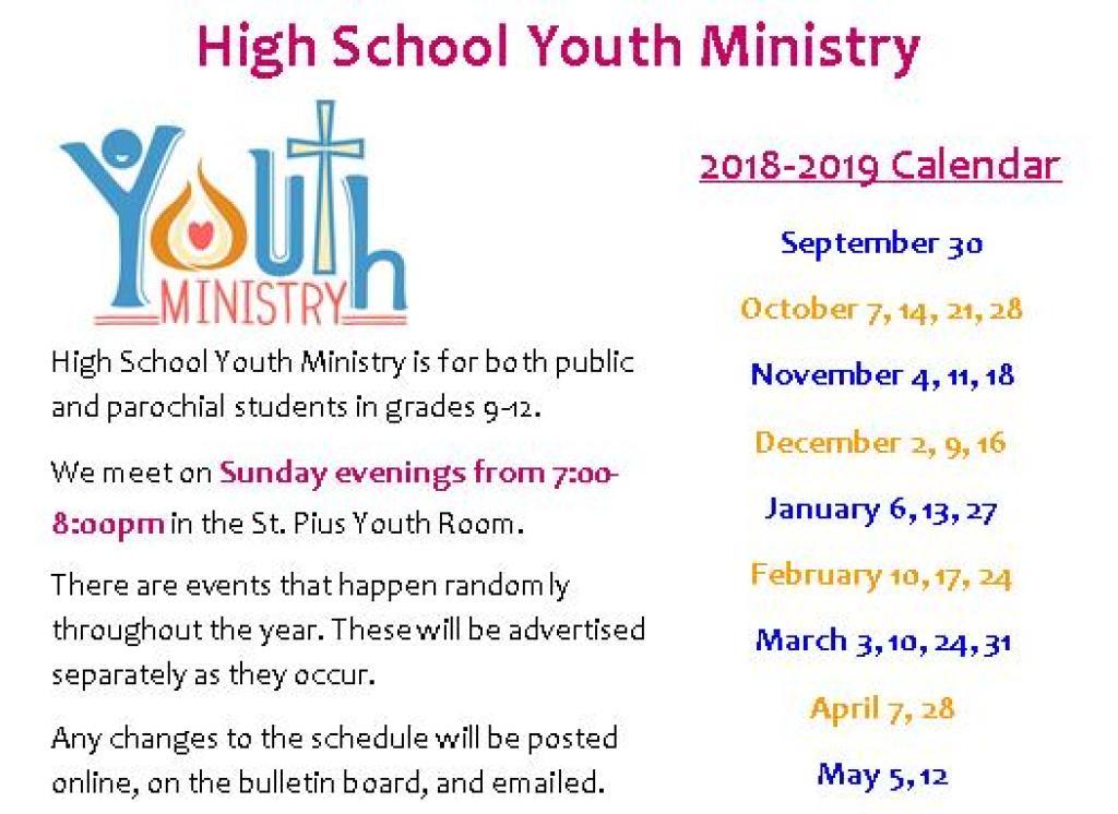 HS 2018-2019 Calendar