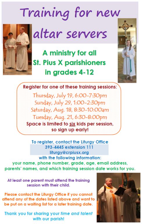 Altar Server Training