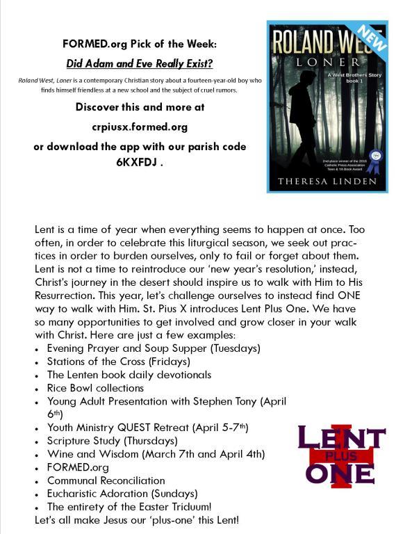 Lent Plus One
