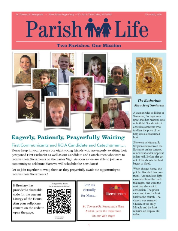 Parish Life April, 2020