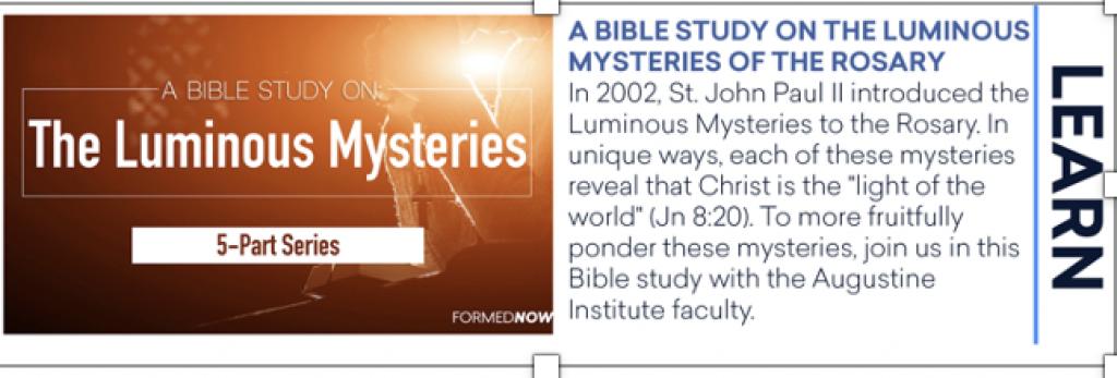 Luminous Mysteries 5-Part Series