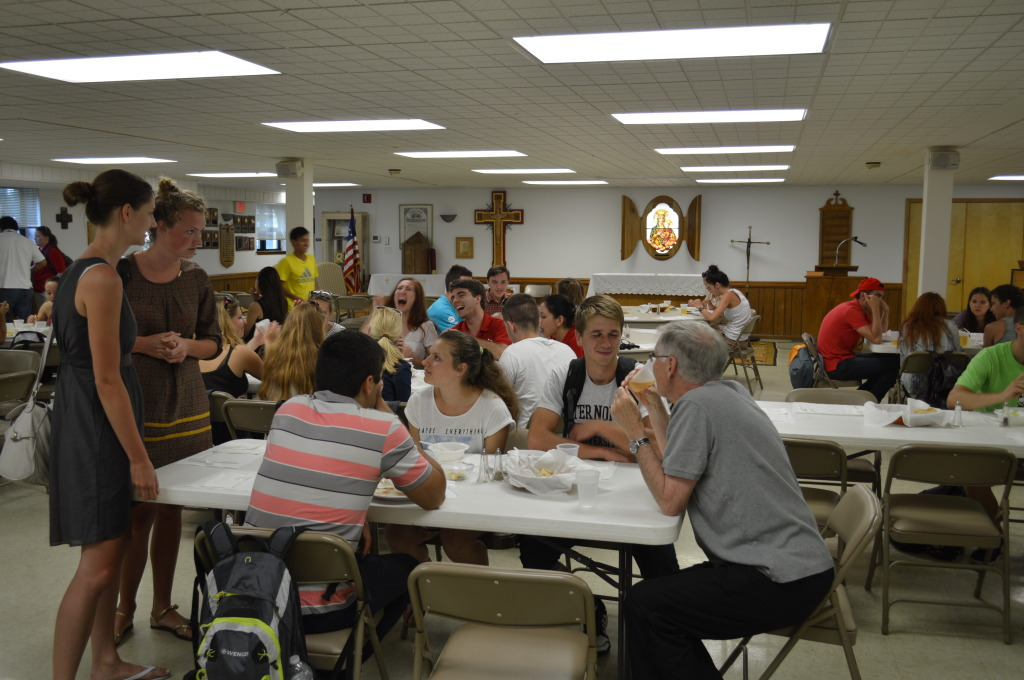 Students Enjoying Dinner and Fellowship