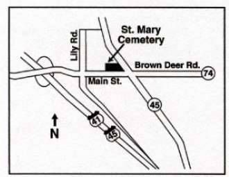 Cemetery Location Map