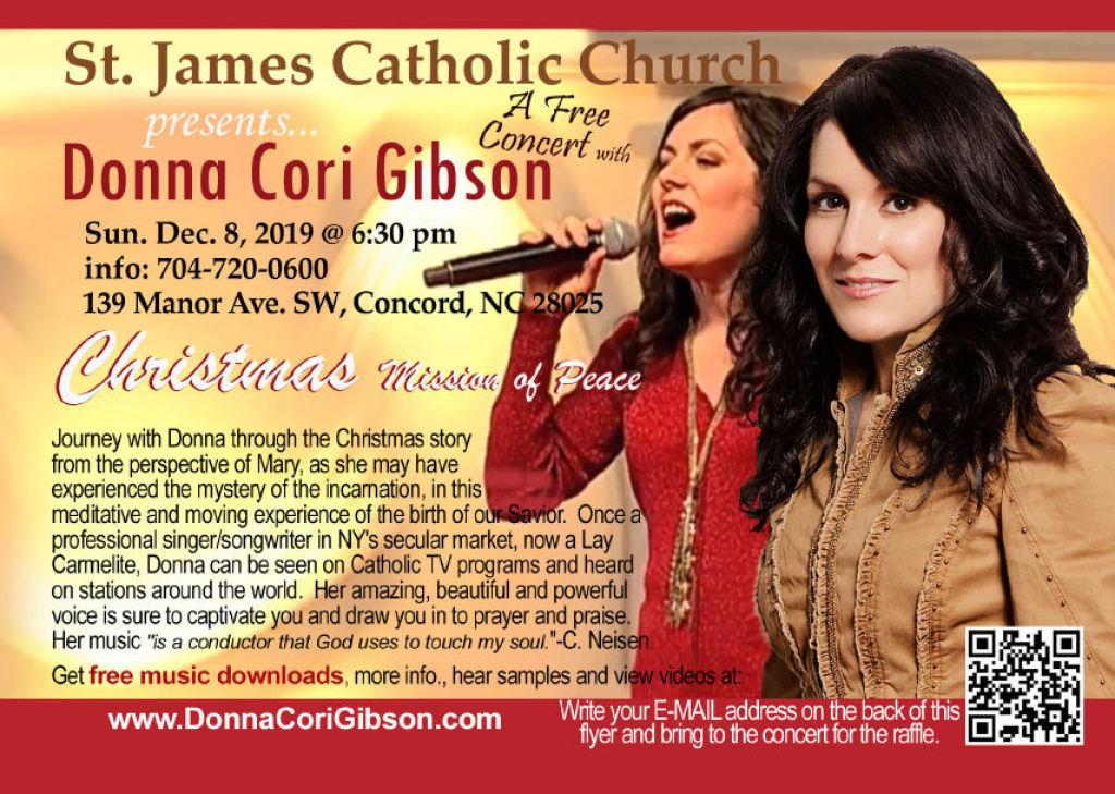 Donna Cori Gibson free concert 12-08-2019