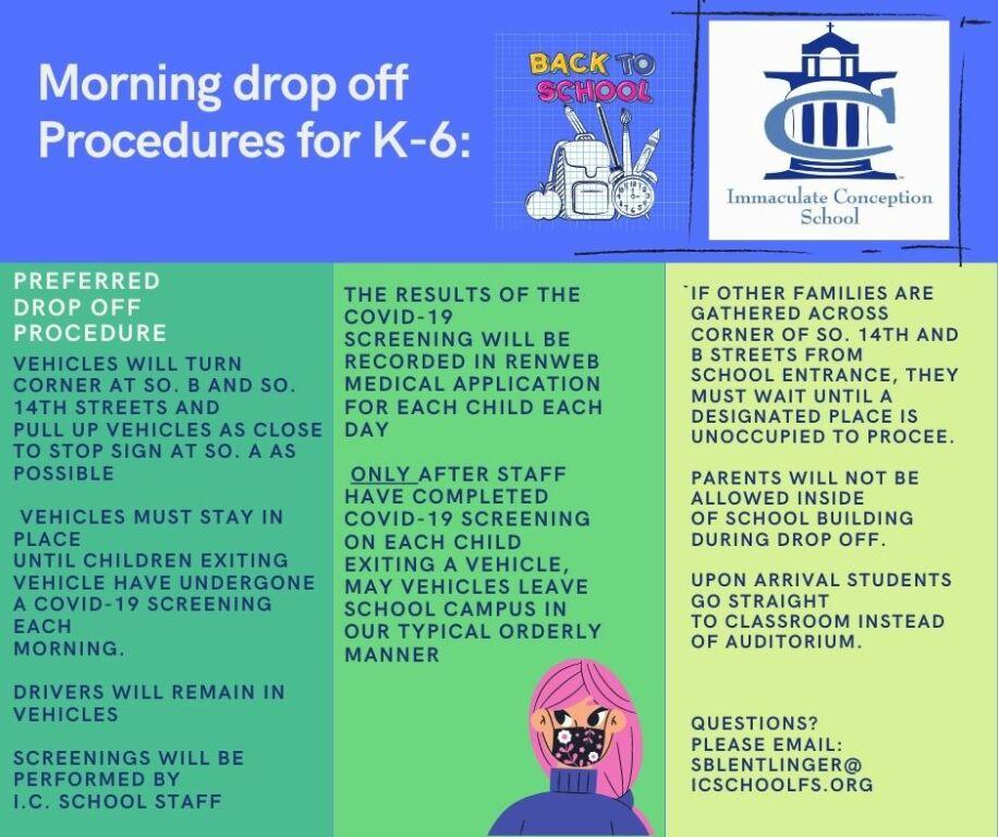Morning Drop Off Procedures