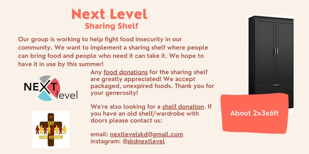 SKD-NeXt Level Sharing Shelf