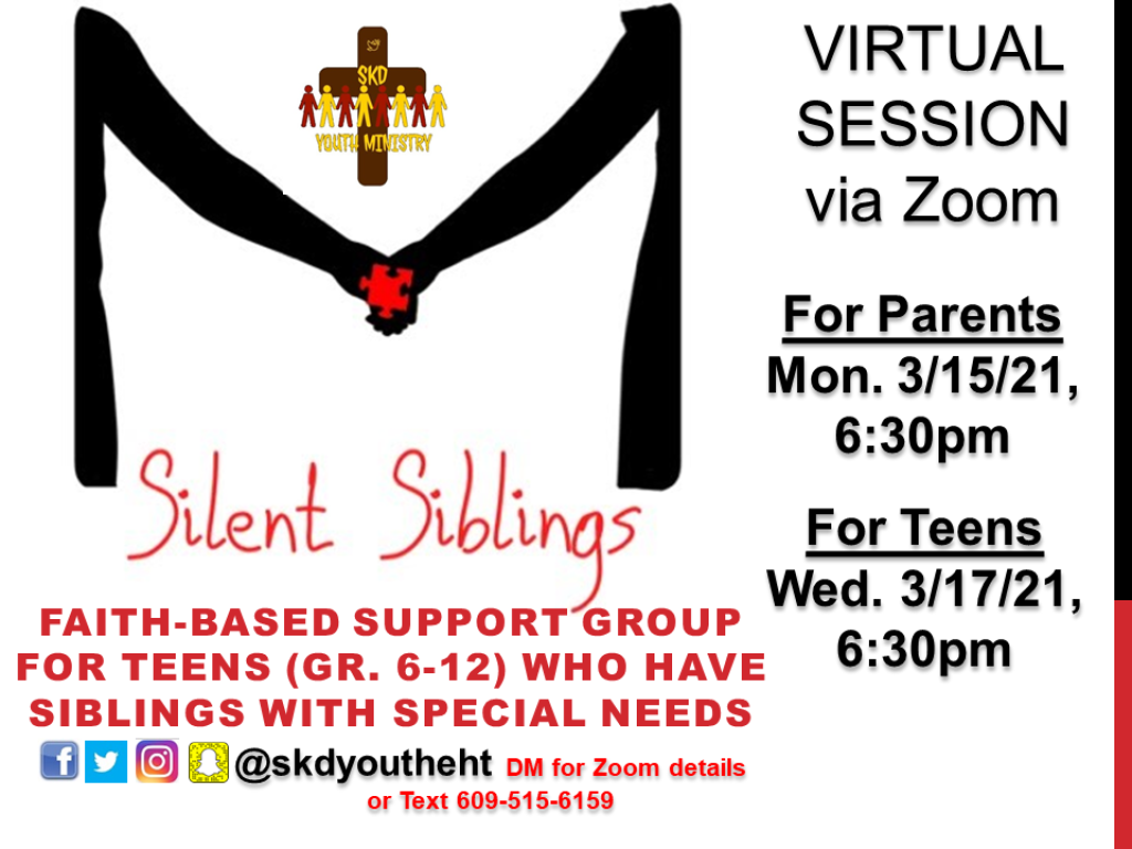 Silent Siblings March 2021 Sessions