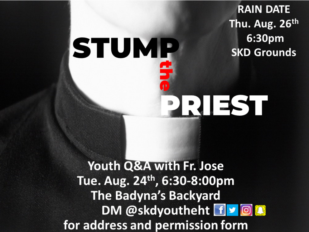 Stump the Priest with Fr. Jose August 2021