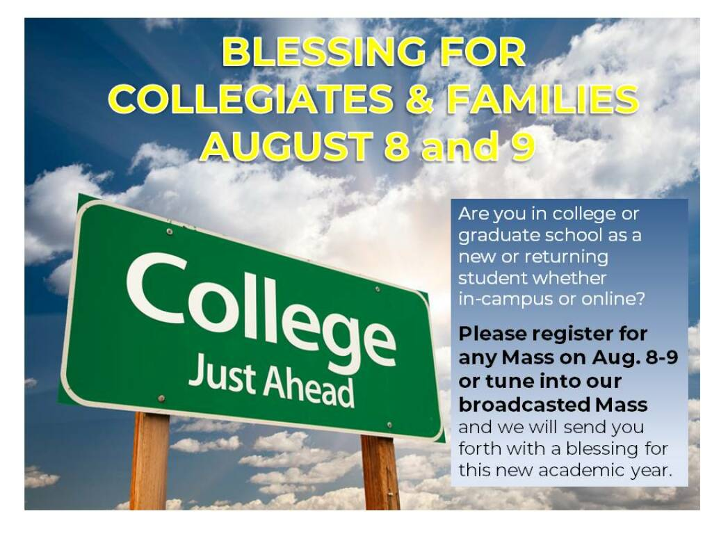 Blessing for Collegiates and Families