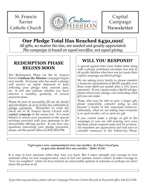 St. Francis Xavier News #11