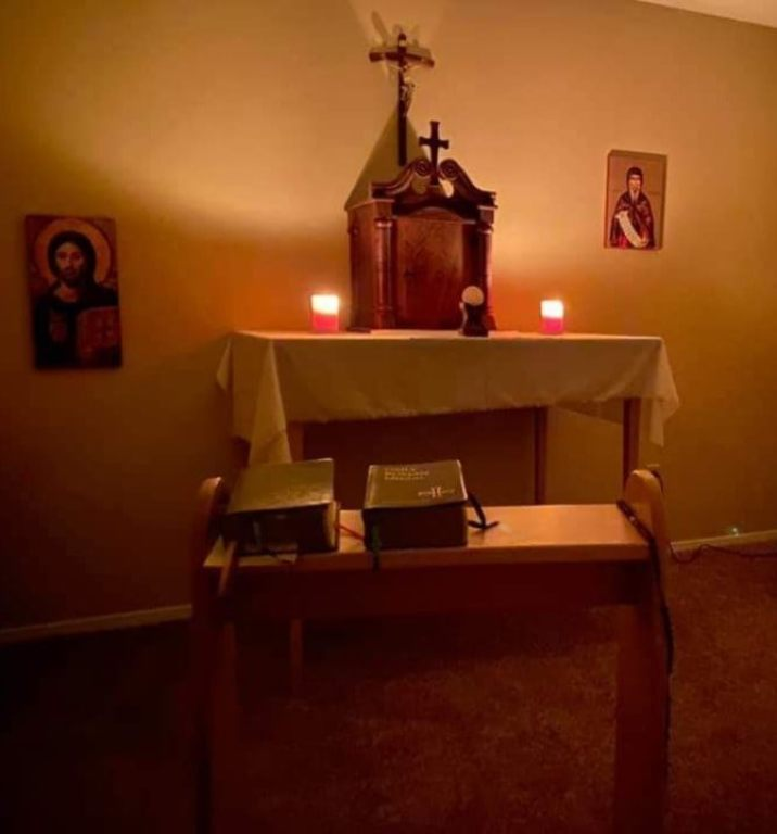 Father Ben's Home Altar