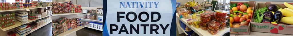 Nativity Food Pantry at Holy Rosary header