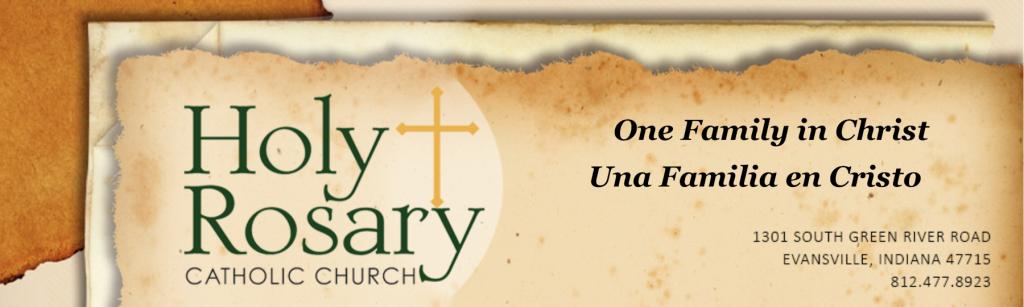 Holy Rosary newsletter header