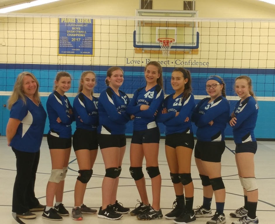 Girls 8th Grade Volleyball Team