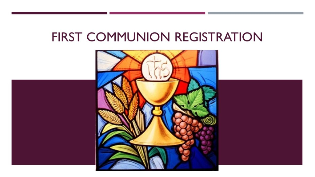 1st Communion Registration