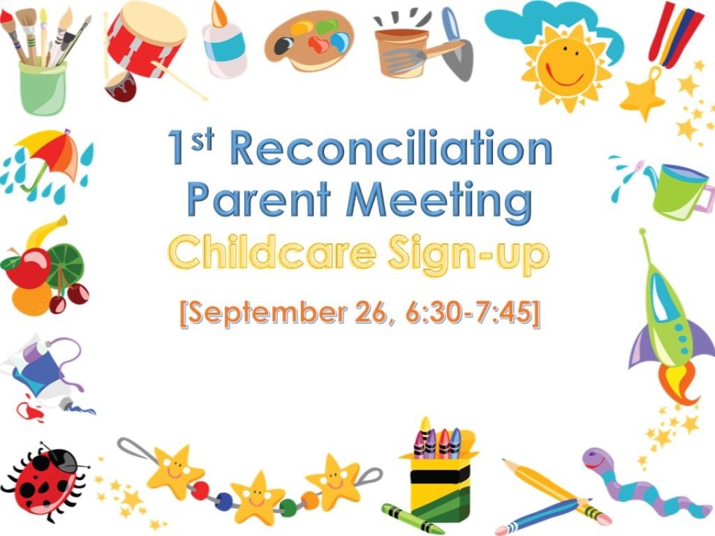 Reconciliation Parent Meeting Childcare