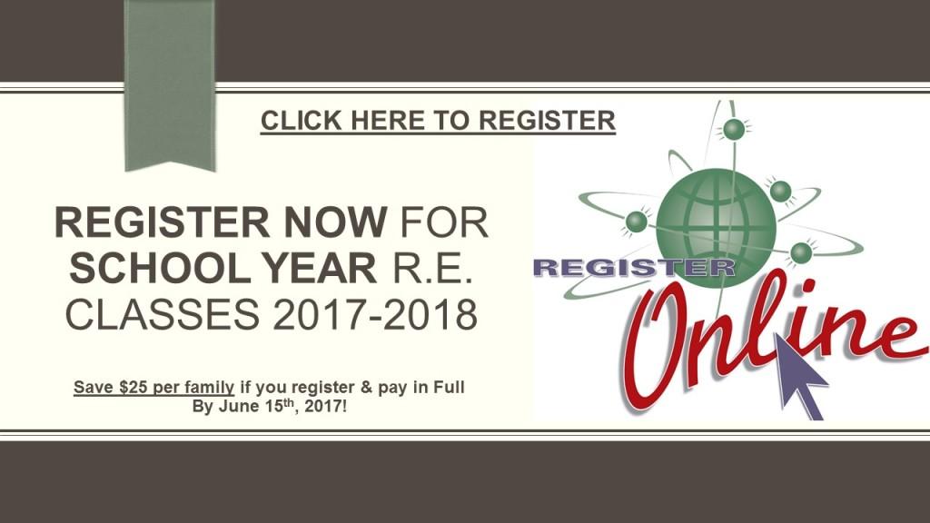2017-2018 School Year Religious Education Registration