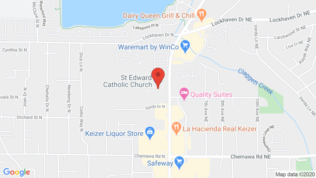 Map to Saint Edward Catholic Church