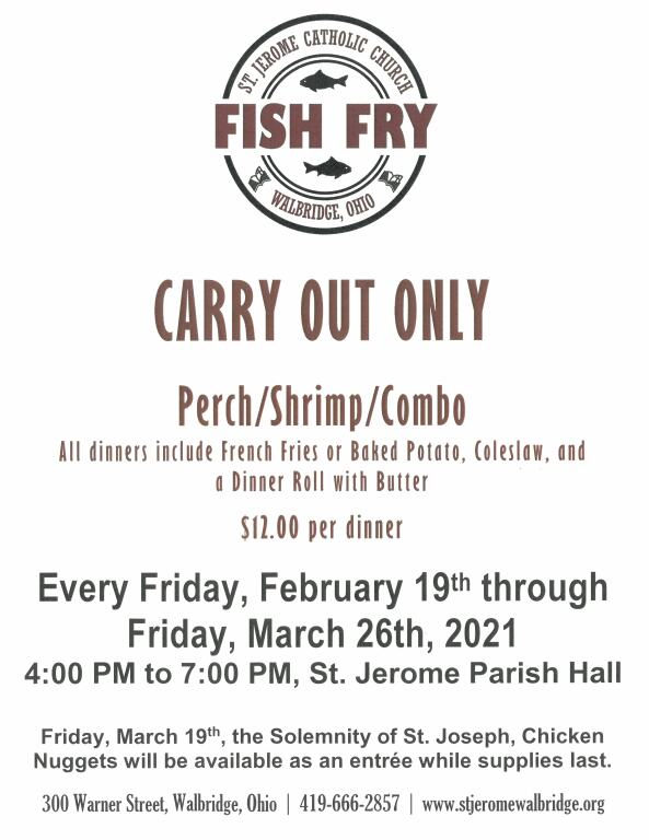 2021 Saint Jerome Fish Fry