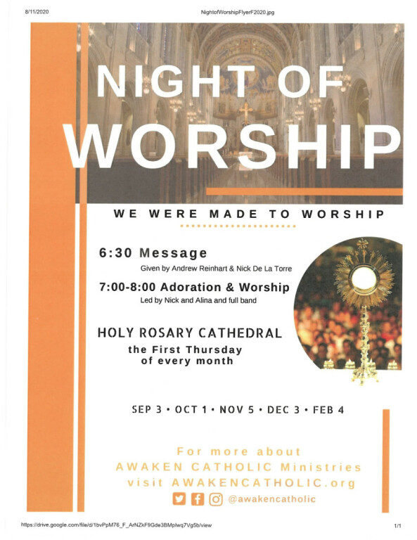 Night of Worship-Rosary Cathedral