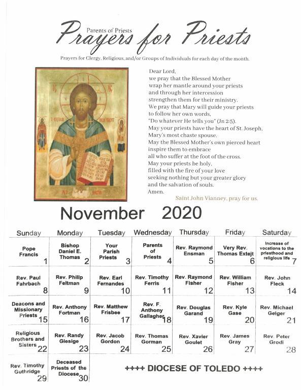November 2020 Prayer for Priests