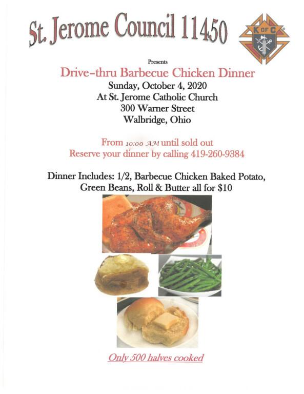 Knights of Columbus BBQ-Chicken Dinner
