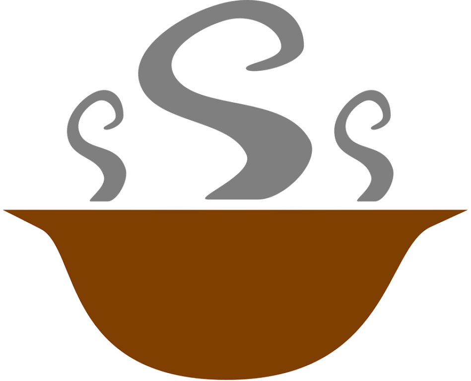 Chili pot with spoon photo
