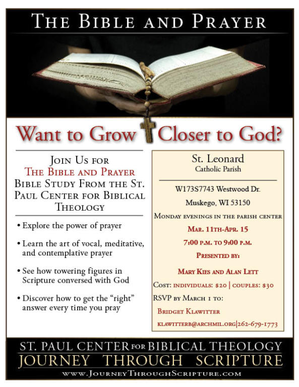 flyer for jan-march 2019 bible and prayer study
