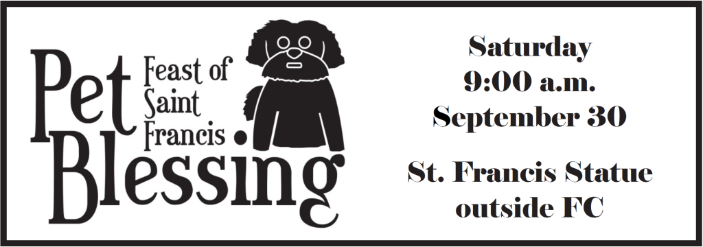 St. Mary Catholic Community Downtown Royal Oak St. Francis Assisi Pet Blessing 2017