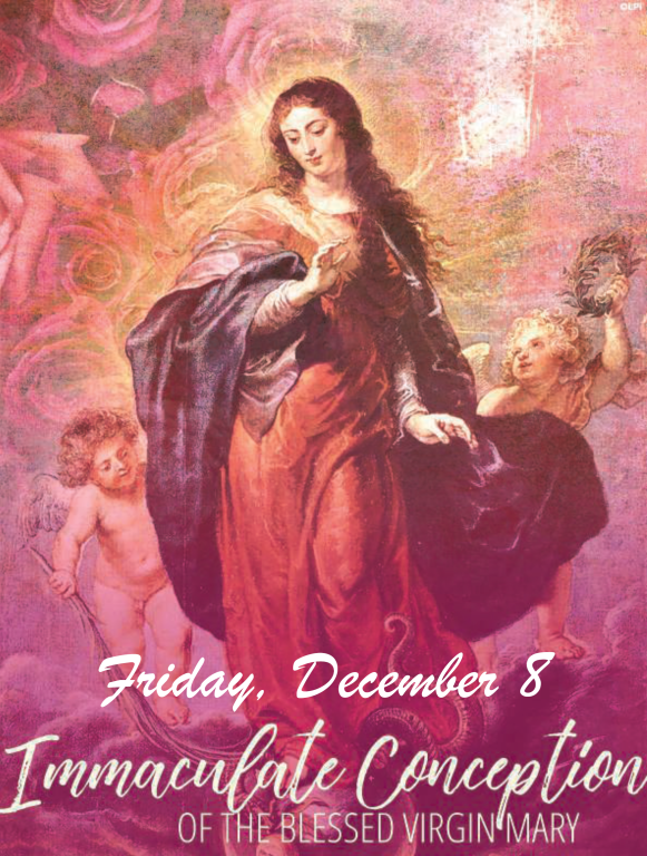 St. Mary Catholic Community Downtown Royal Oak Immaculate Conception of the Blessed Virgin Mary Holy Day of Obligation Mass Schedule
