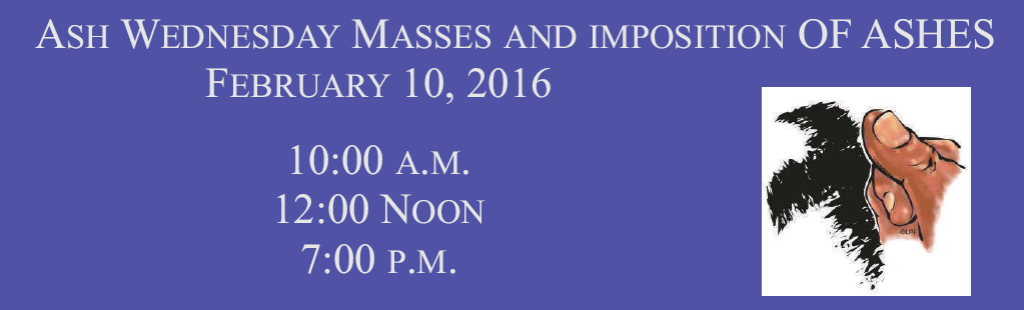 St. Mary Catholic Community Downtown Detroit Ash Wednesday Services