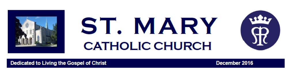 St. Mary Catholic Community Downtown Royal Oak January 2017 Newsletter